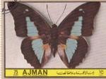 Stamps United Arab Emirates -  AJMAN -Mariposas