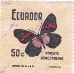 Sellos de America - Ecuador -  Mariposas-Pereute Leucodrosime