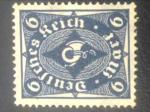 Sellos de Europa - Alemania -  alemania1922,Post Horn 6M deutsches reich allemagne germany germania deutsches