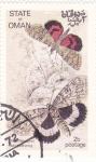 Sellos de Asia - Omán -  Mariposas - Red Underwing
