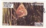 Sellos de Asia - Omán -  Mariposas -Large Heath