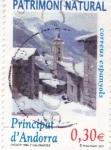 Sellos de Europa - Andorra -  Pueblo de Encamp -Patrimoni Natural