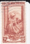 Stamps Italy -  Campesina recogiendo naranjas