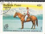 Stamps Burkina Faso -  Exposición Mundial de Filatélia Argentina 85