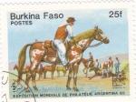 Sellos de Africa - Burkina Faso -  Exposición Mundial de Filatélia Argentina 85