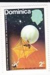 Sellos de America - Dominica -  !00 aniversario de la organización Meteorológica-globo sonda-