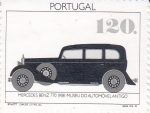 Stamps of the world : Portugal :  Mercedes Benz 770  1938 -Museo del Automovil Antiguo