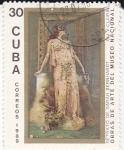 Sellos de America - Cuba -  Obras de Arte del Museo Nacional-Retrato de Sarah Bernhardt