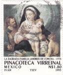 Stamps Mexico -  PINACOTECA VIRREINAL- La Sagrada Familia (Andres de Concha-1572)