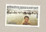 Stamps Turkey -  Niño nadando