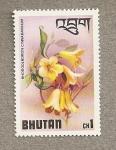 Stamps Asia - Bhutan -  Flores