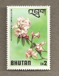 Stamps Asia - Bhutan -  Flores