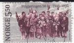 Stamps Norway -  50 aniversario liberación de Noruega 1945-1995