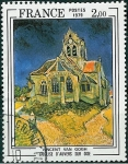 Stamps : Europe : France :  La iglesia de Auvers