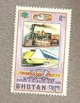Stamps Asia - Bhutan -  Trenes