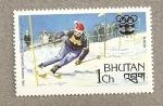 Sellos del Mundo : Asia : Bhután : Ski