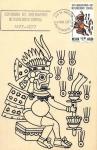 Sellos de America - México -  Tarjeta Máxima.-Ptimer día .-Centenario del observatorio metereologico central
