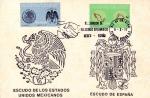 Sellos de America - México -  Tarjeta Máxima.-Primer día.-Reanudación de relaciones diplomaticas de México y españa