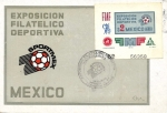 Stamps Mexico -  Tarjeta Máxima.-Primer día.- Exposición Filatélica Deportiva sportmex