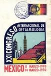 Stamps of the world : Mexico :  Tarjeta Máxima-primer día.-11vo congreso int. de oftalmologia