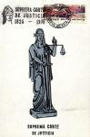 Sellos de America - México -  Tarjeta Máxima.-primer día.-150 años de la suprema corte de justicio 1825-1975