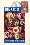Sellos del Mundo : America : México : Tarjeta Máxima de México.-primer día Campeonato mundial de futbol copa jules rimet