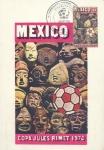 Stamps of the world : Mexico :  Tarjeta máxima de méxico.primer día.- campeonato mundial de futbol copa Jules Rimet