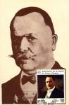 Stamps of the world : Mexico :  Tarjeta Máxima de méxico.-primer día.- 50 aniv de la muerte del general Alvaro Obregon