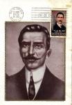 Stamps of the world : Mexico :  Tarjeta Máxima -primer día.-Centenario del natalicio de Jose Maria Pino Suarez 1869-1913