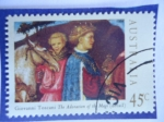 Stamps Australia -  Giovanni Toscani: The Adoration of the Magi.