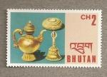 Stamps Asia - Bhutan -  Objetos de culto