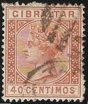 Sellos del Mundo : Europa : Gibraltar : Queen Victoria