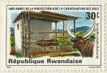 Stamps Rwanda -  1980 AÑO DE PROTECCIÓN Y CONSERVACIÓN DE LA TIERRA