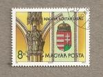 Sellos de Europa - Hungría -  Nuevo escudo del estado