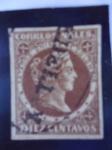 Stamps Colombia -  Estados Unidos de Colombia - Cabeza de la Libertad - Condor