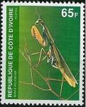 Stamps France -  Mantis religiosa