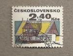 Sellos de Europa - Checoslovaquia -  Construcciones rurales