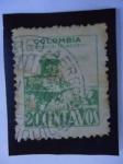 Stamps Colombia -  Fortaleza de San Sebastián, Cartagena.-Sobreporte Aereo