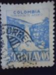 Stamps Colombia -  Salto de Tequendama - Sobre Porte Aéreo.