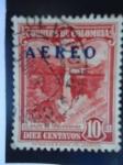 Sellos de Africa - Colombia -  Scott/Colombia:570 - Salto de Tequendama.-Sobreporte Aéreo 1953, sobre estampilla emitida 1948.