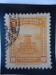 Stamps of the world : Colombia :  El  Dorado - Símbolo de la leyenda del Dorado.