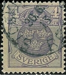Stamps Sweden -  Armoiries
