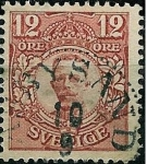 Stamps Sweden -  Gustave V