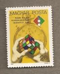 Stamps Hungary -  El cubo de Rubik
