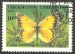 Sellos del Mundo : Asia : Uzbekistán : Mariposa