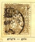 Sellos de Europa - Suiza -  Helvetia Ed 1862