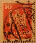 Stamps Germany -  deutfches reich aguila 1924