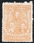 Stamps Ecuador -  UNION POSTAL UNIVERSAL 06/03/1845 AL 05/06/1895
