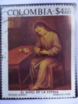 Stamps of the world : Colombia :  Scott/Colombia:C617 - Pinturas_ El Niño de la Espina. De gregorio Vazquez