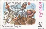 Stamps : Europe : Spain :  Escenas del Quijote- HAS DE SABER AMIGO SANCHO      (j)
